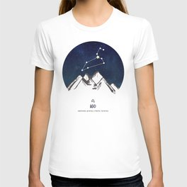 Astrology Leo Zodiac Horoscope Constellation Star Sign Watercolor Poster Wall Art T-shirt
