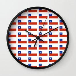 Flag of Chile 3-Spanish,Chile,chilean,chileno,chilena,Santiago,Valparaiso,Andes,Neruda. Wall Clock