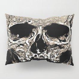 Full Skull With Rotting Flesh Vector Pillow Sham