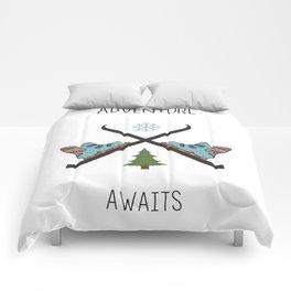 Adventure Awaits - Ski Comforters