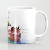 fishing Mugs featuring Fishing by Viktor Andersson