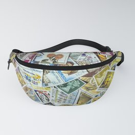 Postage Stamp Collection Fanny Pack