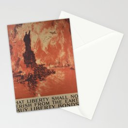 Vintage poster - Liberty Shall Not Perish Stationery Cards