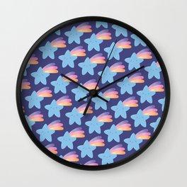 Fallings stars pattern Wall Clock