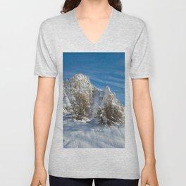 Alpine Mountain, Les Arcs Resort Unisex V-Neck
