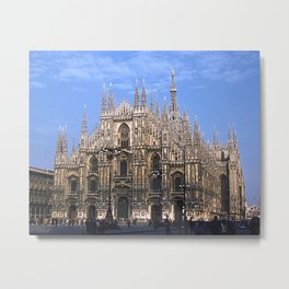 Vintage 1940's Color Photo Duomo di Milano Metal Print