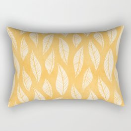 Modern Tropical Leaf Pattern - Yellow Rectangular Pillow