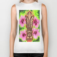 tiki Biker Tanks featuring Tiki by Tuff Luck Les