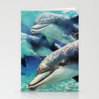 dolphin Stationery Cards featuring Dolphin by A.Aenska-Cholpanova
