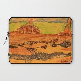 Painted Gar & Alligator Laptop Sleeve