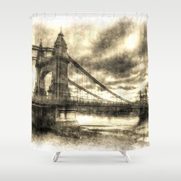Hammersmith Bridge London Vintage Shower Curtain