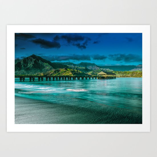 Hanalei Pier by wallartphotos