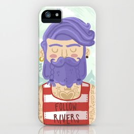 Follow Rivers iPhone Case