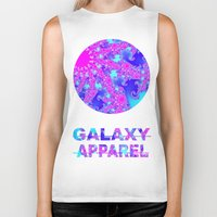 fractal Biker Tanks featuring FRACTAL by GALAXY APPAREL