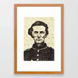 sgt george c whitecar Framed Art Print