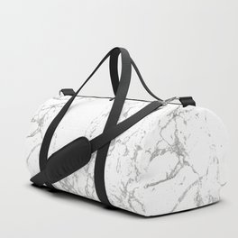 Gray white abstract modern marble pattern Duffle Bag