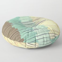 Shreds of Color 2 Floor Pillow