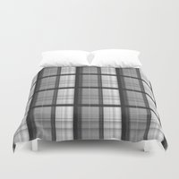 plaid Duvet Covers featuring Plaid by Jonna Ivin