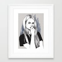 the who Framed Art Prints featuring Who? by Michaela Ramstedt
