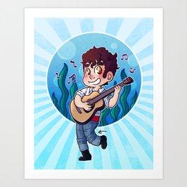 Darren Criss - New Prince Eric Art Print