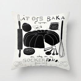 Baka en kaka Throw Pillow