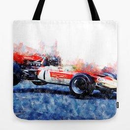 Graham Hill, Nurburgring jump Tote Bag