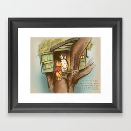 Waiting for Others to Come to You Framed Art Print