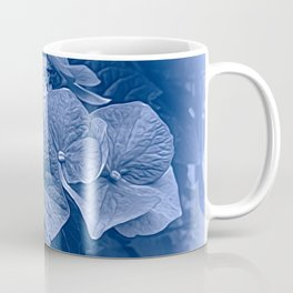 Hydrangea in Blue Coffee Mug