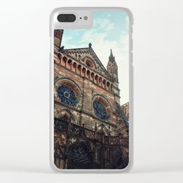Roman Catholic Cathedral Notre Dame of Strasbourg Clear iPhone Case