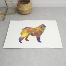 Leonberger in watercolor Rug