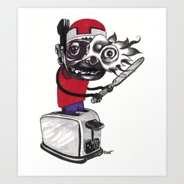 toast rider Art Print
