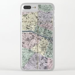Map of Paris, France - 1878 Clear iPhone Case