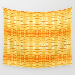 Satin Shibori Yellow Wall Tapestry