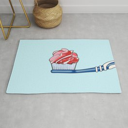 Cupcake Toothpaste on Toothbrush Rug