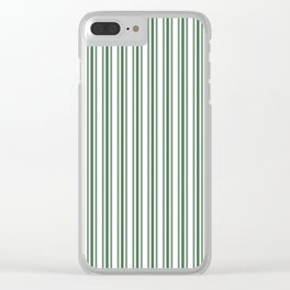 Trendy Large Green Boot Green French Mattress Ticking Double Stripes Clear iPhone Case