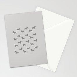 Dachshund Pattern - Stone Stationery Cards