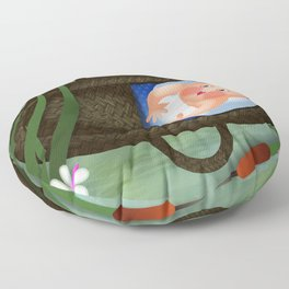 Baby Moses on the River Nile Floor Pillow