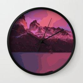 Purple Mountais Wall Clock