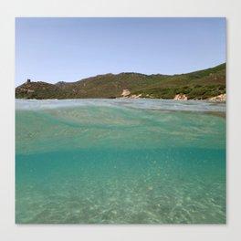Sardinia underwater - emerald Canvas Print
