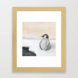 Wandering Penguin Framed Art Print