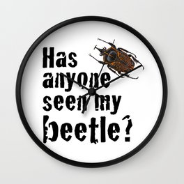 Beetle Search Wall Clock