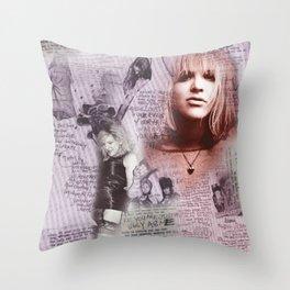 Courtney Zine Style Art Throw Pillow