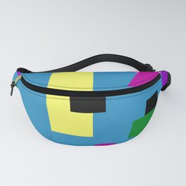 Geometry Shapes on Blue Fanny Pack