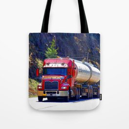 Truckers Big Rig Fuel Tanker Truck Tote Bag