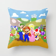 Mario & friends Throw Pillow