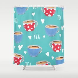 Love Tea Shower Curtain
