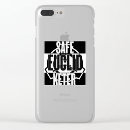 SCP: Safe, Euclid, Keter. Clear iPhone Case