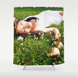 Atalanta and the Golden Apples Shower Curtain