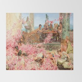 The Roses of Heliogabalus by Sir Lawrence Alma-Tadema Throw Blanket