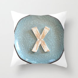 Love Letters to Dinnerware - X Throw Pillow